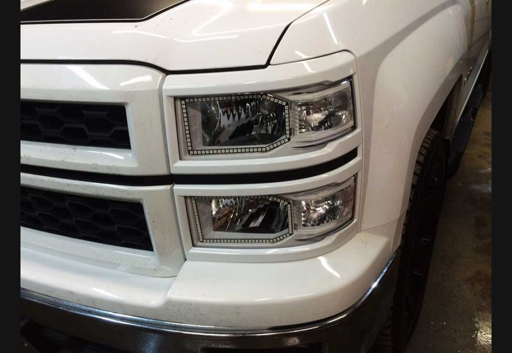 2014 2015 Silverado 1500 Clear Headlight Marker Lenses