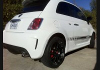 2011+ Fiat 500  Clear Rear Side Markers
