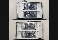 2007-2013 Sierra Clear Headlight Markers